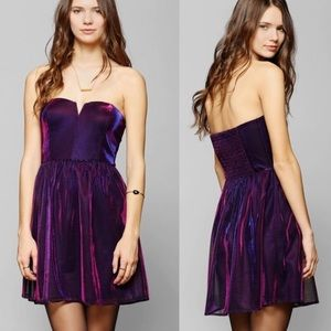 Lucca Couture Iridescent Strapless Dress